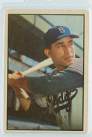 1953 Bowman Color Baseball 78 Carl Furillo Brooklyn Dodgers Near-Mint