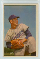 1953 Bowman Color Baseball 129 Russ Meyer High Number Brooklyn Dodgers Very Good
