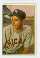 1953 Bowman Color Baseball 137 Sam Dente High Number Chicago White Sox Good to Very Good