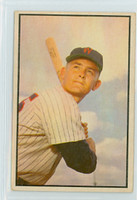 1953 Bowman Color Baseball 139 Pete Runnels High Number Washington Senators Good to Very Good