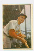 1953 Bowman Color Baseball 142 Larry Miggins High Number Boston Red Sox Fair to Poor