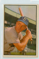 1953 Bowman Color Baseball 145 George Shuba High Number Brooklyn Dodgers Very Good