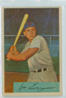1954 Bowman Baseball 28 Jim Greengrass NJ  Cincinnati Reds Excellent to Excellent Plus