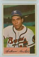 1954 Bowman Baseball 224 Bill Bruton Milwaukee Braves Excellent to Excellent Plus