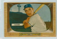 1955 Bowman Baseball 6 Pete Suder Kansas City Athletics Excellent to Mint
