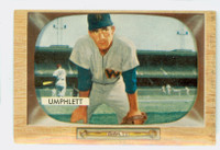 1955 Bowman Baseball 45 Tom Umphlett Washington Senators Excellent to Mint