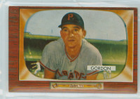 1955 Bowman Baseball 163 Sid Gordon Pittsburgh Pirates Excellent to Mint