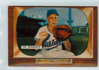 1955 Bowman Baseball 175 Wilmer Shantz Kansas City Athletics Excellent