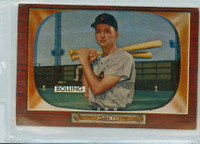 1955 Bowman Baseball 204 Frank Bolling MILT  Detroit Tigers Very Good