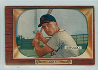 1955 Bowman Baseball 205 Rip Repulski St. Louis Cardinals Very Good