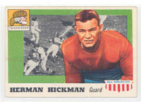 1955 Topps AA Football 1 Herman Hickman ROOKIE Tenn Volunteers Very Good to Excellent