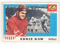 1955 Topps AA Football 15 Ed Kaw Single Print Cornall Big Red Very Good to Excellent