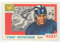 1955 Topps AA Football 18 Pudge Heffelfinger Single Print Yale Bulldogs Excellent
