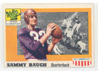 1955 Topps AA Football 20 Sammy Baugh TCU Horned Frogs Very Good to Excellent