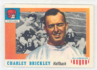 1955 Topps AA Football 61 Charley Brickley Single Print Harvard Crimson Excellent