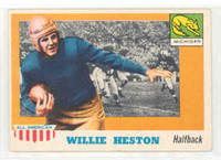 1955 Topps AA Football 93 Willie Heston Single Print Mich Wolverines Excellent to Excellent Plus