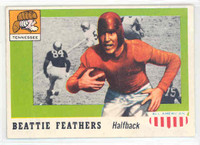 1955 Topps AA Football 98 Beattie Feathers ROOKIE Single Print Tenn Volunteers Excellent