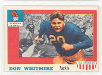 1955 Topps AA Football 99 Don Whitmire Single Print ALANAVY Alabama / Navy Very Good to Excellent