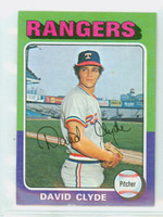 1975 Topps Mini Baseball 12 David Clyde ROOKIE Texas Rangers Very Good to Excellent