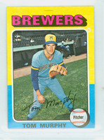 1975 Topps Mini Baseball 28 Tom Murphy Milwaukee Brewers Excellent