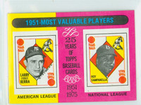 1975 Topps Mini Baseball 189 1951 MVP Excellent