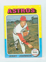 1975 Topps Mini Baseball 218 Jerry Johnson Houston Astros Excellent