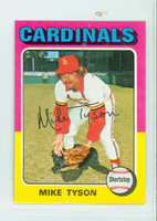 1975 Topps Mini Baseball 231 Mike Tyson St. Louis Cardinals Excellent