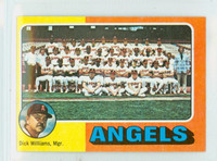 1975 Topps Mini Baseball 236 Angels Team Excellent