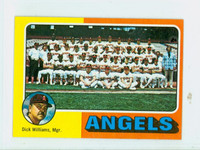 1975 Topps Mini Baseball 236 Angels Team Excellent to Mint