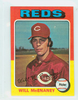 1975 Topps Mini Baseball 481 Will McEnaney ROOKIE Cincinnati Reds Near-Mint Plus