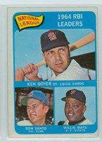 1965 OPC Baseball 6 NL RBI Leaders Very Good to Excellent