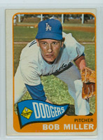 1965 OPC Baseball 98 Bob L Miller Los Angeles Dodgers Very Good