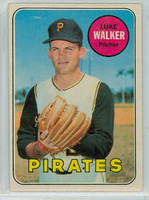 1969 OPC Baseball 36 Luke Walker Pittsburgh Pirates Excellent