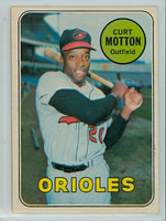 1969 OPC Baseball 37 Curt Motton Baltimore Orioles Excellent