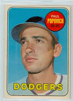 1969 OPC Baseball 47 Paul Popovich Los Angeles Dodgers Excellent to Excellent Plus