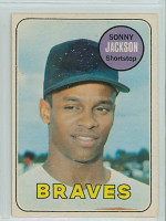 1969 OPC Baseball 53 Sonny Jackson Atlanta Braves Excellent