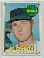 1969 OPC Baseball 64 Bill Monbouquette San Francisco Giants Excellent
