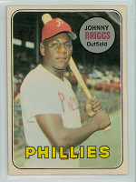1969 OPC Baseball 73 Johnny Briggs Philadelphia Phillies Excellent