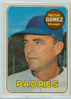 1969 OPC Baseball 74 Preston Gomez San Diego Padres Excellent to Excellent Plus