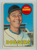 1969 OPC Baseball 94 Hank Aguirre Los Angeles Dodgers Excellent