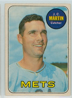 1969 OPC Baseball 112 JC Martin New York Mets Excellent to Excellent Plus