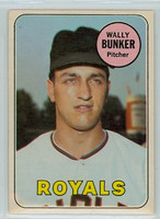 1969 OPC Baseball 137 Wally Bunker Kansas City Royals Excellent