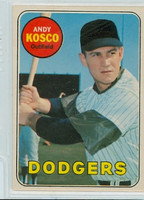 1969 OPC Baseball 139 Andy Kosco Los Angeles Dodgers Excellent to Excellent Plus