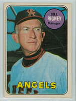 1969 OPC Baseball 182 Bill Rigney California Angels Excellent