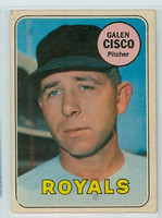 1969 OPC Baseball 211 Galen Cisco Kansas City Royals Very Good