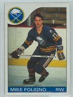 1985-86 Topps Hockey Mike Foligno Buffalo Sabres Near-Mint to Mint