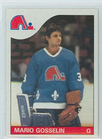 1985-86 Topps Hockey Mario Gosselin Quebec Nordiques Near-Mint to Mint