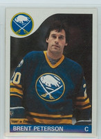 1985-86 Topps Hockey Brent Peterson Buffalo Sabres Near-Mint to Mint
