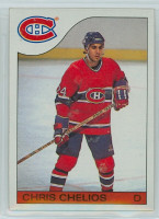1985-86 Topps Hockey Chris Chelios Montreal Canadiens Near-Mint to Mint