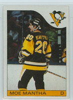 1985-86 Topps Hockey Moe Mantha Pittsburgh Penguins Near-Mint to Mint